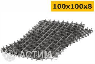 Сетка стальная сварная 100х100х8